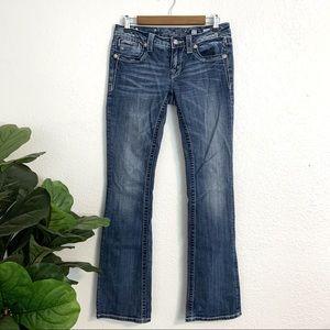 Miss Me Embellished Wing Boot Cut Denim Jeans 27